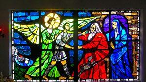 Erzengel Raphael Glasfenster