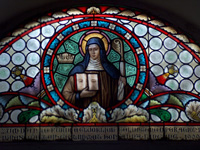 Heilige Odilia Glasfenster