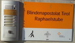 Türschild Raphaelstube